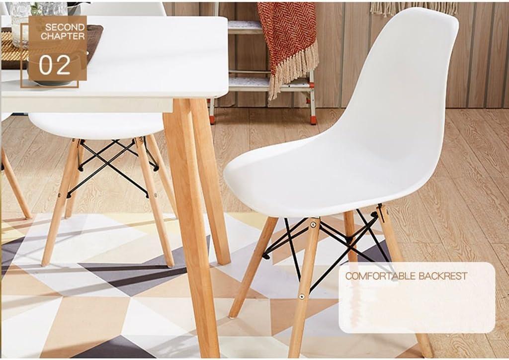 HXF- Chaise de Salle à Manger Moderne Minimaliste Chaise de Bureau créatif en Plastique Durable (Color : A) B