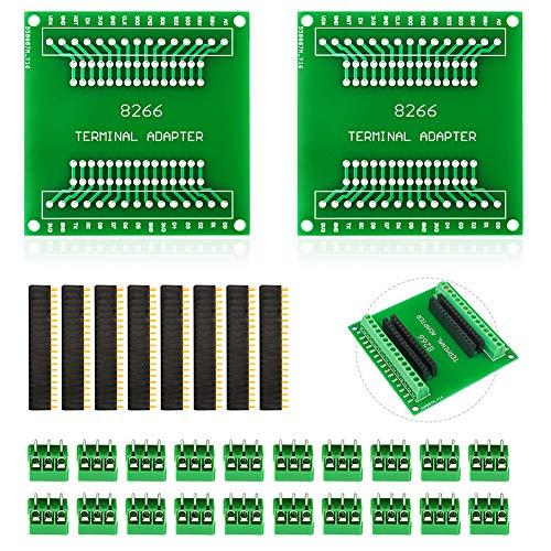 KeeYees 2 Piezas Kits de Placa de Expansión GPIO 1 en 2 para ESP8266 ESP-12E NodeMCU Placa de Desarrollo WiFi CP2102