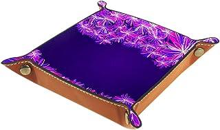 1 plateau en cuir synthétique pour servir des clés, des porte-monnaie, des clés, un portefeuille, une boîte de rangement, ...