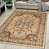 Carpeto Rugs Tapis Salon Orientale Beige 200 x 300 cm Différentes Tailles Poils Courts