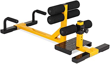 Goplus 3-in-1 Multifunctional Squat Machine Deep Sissy Squat & Leg Exercise Squat for..