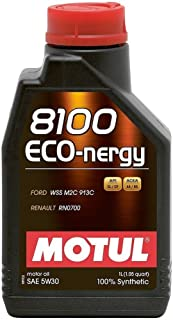 Motul MTL102782 8100 Eco-nergy 5W-30 100 Percent Synthetic Fuel Economy Gasoline and Diesel Lubricant - 1 Liter