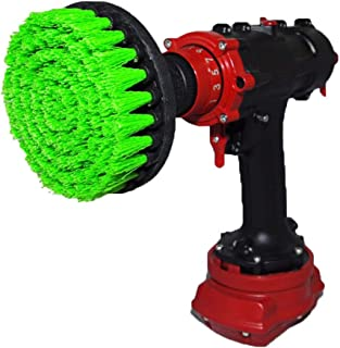Premium Drill Brush, Medium, Green 13cm. Professional Power Scrubber. Doesn't Scratch Surfaces. Suitable for Kitchen, Stove and Oven, Cabinets, Counters, Dirty pots, Linoleum Cleaning