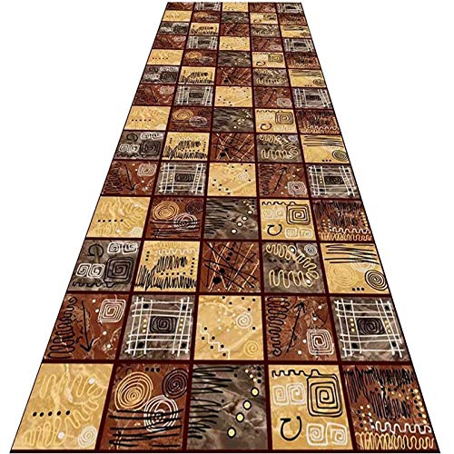 Carpet Long Runner Rugs For Hallway Area Rugs Corridor Carpet, Colorful Checkered Floor Mat, Entryway Carpet for Stairs Kitchen, Non Shed, Customizable (Color : Multi-colored, Size : 0.8x4m)