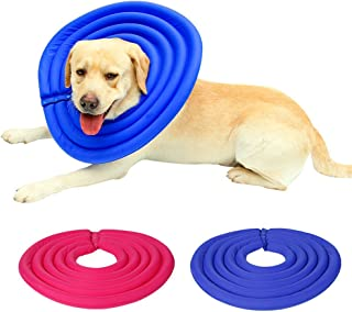 NACOCO Pet Elizabethan Collars Dog Protective Mask Cat Recovery E-Collar Made from Water-Resistant Nylon Fabric & Soft Hollow EPE Foam
