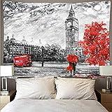 Hermoso paisaje animal tapiz psicodélico colgante de pared hippie tapiz decoración del hogar tela de fondo A17 150x200cm
