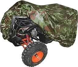 Cubierta Protectora para Quad ATV Lona Cover Impermeabler 190T Anti-UV Duradero Garaje para Moto Almacenamiento Contra el Invierno Nieve Lluvia Sol y Polvo para Honda Polaris Yamaha Suzuki