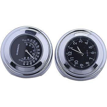 Lenker 22 mm Universal Motorraduhr Motorrad Lenker Thermometer wasserdicht 25//22M schwarz Aluminium 7//8