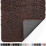 Gorilla Grip Original Indoor Durable Chenille Doormat, 60x36, Absorbent Machine Washable Inside Mats, Low-Profile Rug Doormats for Entry, Mud Room Mat, Back Door, High Traffic Areas, Brown