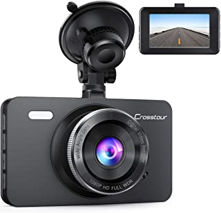 Dash Cam, Crosstour 1080P Car DVR Dashboard Camera Full HD with 3