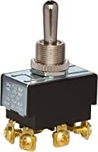 Morris Products 2 Pole Toggle Switch – Heavy Duty, DPDT On-Off-On 6 Screw Terminals – Three Positions – Solid Brass, Nickel Plated Bushings - 100,000 Mechanical Life Cycles – CURus Listed