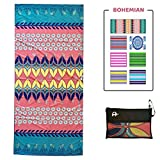 Microfiber Beach Towel Oversized - XL 78 x 35 Inch Lightweight, Quick Dry, Sand...