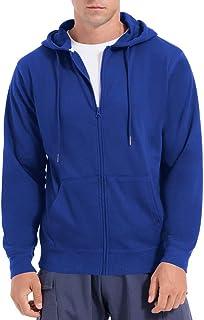 QUALFORT Men's Zip Up Long Sleeve Hoodie Cotton Hoodie Jacket