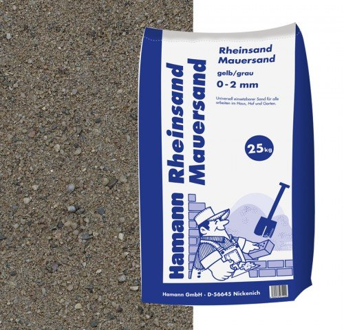 Hamann Mercatus GmbH Rheinsand, Mauersand 25 kg Sack