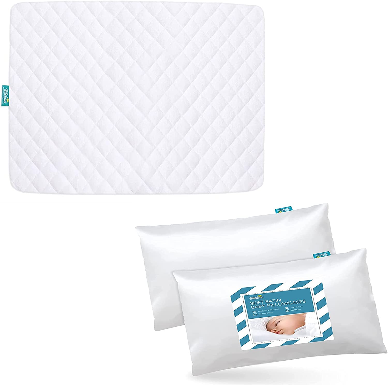 Pack Factory outlet n Play Sheet Quilted with Waterproof White Satin Protector New York Mall