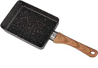 Sartén antiadherente japonesa, Sartén cuadrada portátil de aluminio Huevo escalfado Cocina pequeña