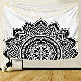 Patrón de mandala caliente tapiz indio colgante de pared cenefa bohemia elefante playa fondo tapiz de tela manta A3 180X200CM