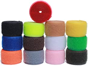Sew on Hook and Loop Nylon Fabric Magic Fastener Tape by The Yard with Non-Adhesive for DIY Craft Supplies (1 inch Wide, P...