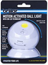 Brillar BR0022 BR0022 COB LED Motion Activated Swivel Ball Lig Grab N Go Ball Rotate 3 AAA Batteries Included