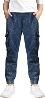 Boys' Cotton Jogger Pants, 4-12 Years