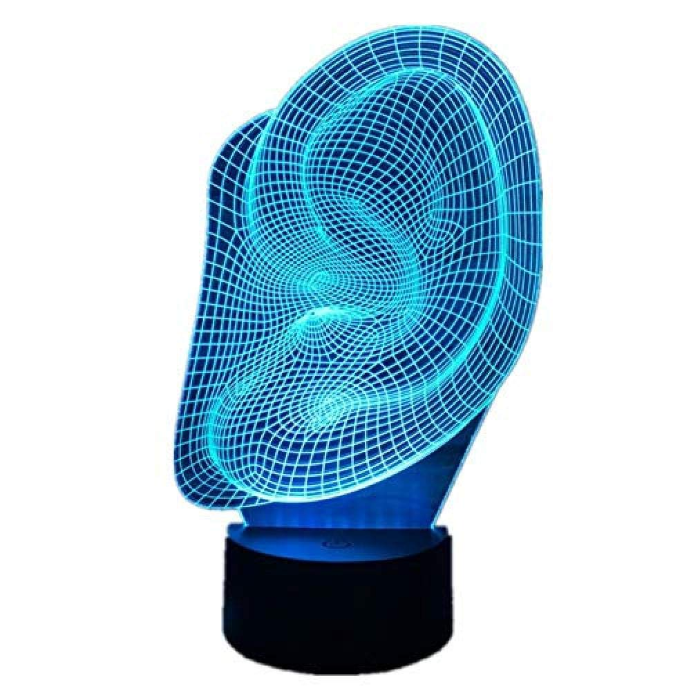 ATD/® DNA Spiral 3D Illusion optique D/égrad/és Colorful tactile Commutateur LED Lampe de bureau Night Light