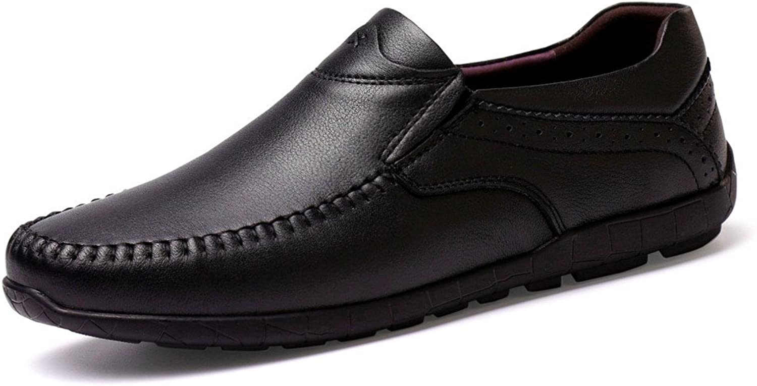 CHENXD shoes, Men's Fashion Breathable Premium Genuine Leather Moccasins Slip on Loafers Wave Sole Driving shoes