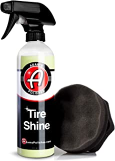 Adam's SiO2 Infused Tire Shine Plus Combo - Achieve a Lustrous, Dark, Long Lasting Shine - Non-Greasy and No Sling Formulation Infused With SiO2 For Increased a Longer, Durable Shine