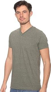 Off Cliff Plain Short Sleeves V Neck T-shirt for Men