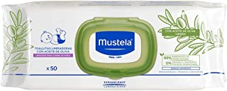 Mustela Baby Cleansing Wipes with Olive Oil, Natural Baby Wipes, Fragrance-Free, Alcohol-Free, 50 Count