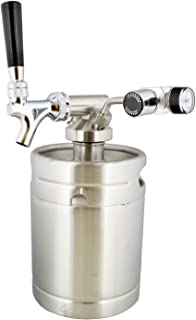 Mini Keg with Mini Keg Regulator and Beer Dispenser, 64 oz – Portable Keg Draft Beer Dispenser, Portable Beer Dispenser