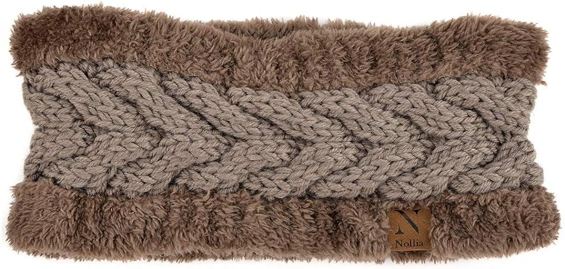 Brown Thick Fleece Lined Headband Head Wrap