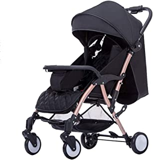 Compact Stroller Fold Lightweight, Pushchair Buggy, with Cup Holder and Meal Plate,with One Hand Fold, 5-Point seat belt, with Reclining Backrest,Suitable from Birth to 3 years old(0-25kg)