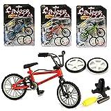 Bicyclette de doigt, Miniature Métal Jouets Sports extrêmes Doigt Vélo Mountain Bike Creative Jeux Enfants Noël Cadeau (Couleur Aléatoire)
