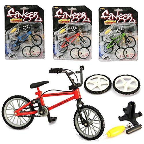 AumoToo Bicicletta da Dito, Giocattoli in Miniatura in Metallo Sport estremi Finger Cycling Mountain Bike Giochi creativi Bambini Regalo di Natale (Colore Casuale)