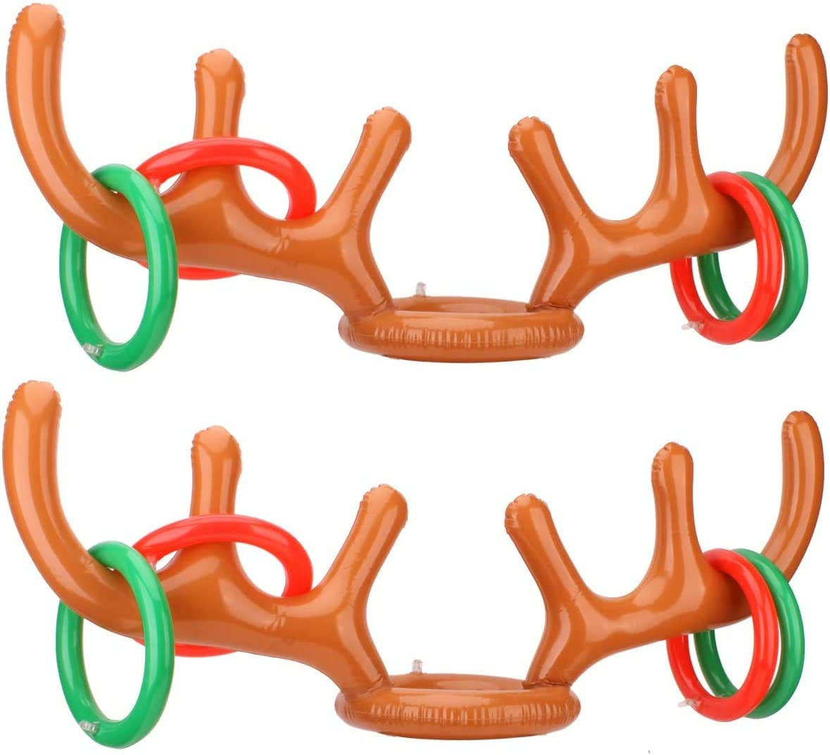 Encci 2-4 Players Clearance SALE Limited time Inflatable Reindeer Toss Game for Antler Special sale item Ring