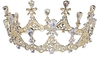 SNUOY Girls Crystal Tiara Wedding Crown for Bridal Prom Pageant Princess Headpieces
