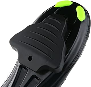 KOBWA Bicycle Shoe Cleat Cover Set, Bike Cycling Cleat Covers for Shimano SPD-SL Pedal Cleats Systems, Black (1 Pair)