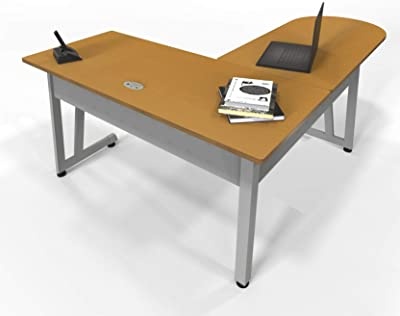 Linea Italia ZUM120, Corner, Home Office L-Shaped Desk, Maple