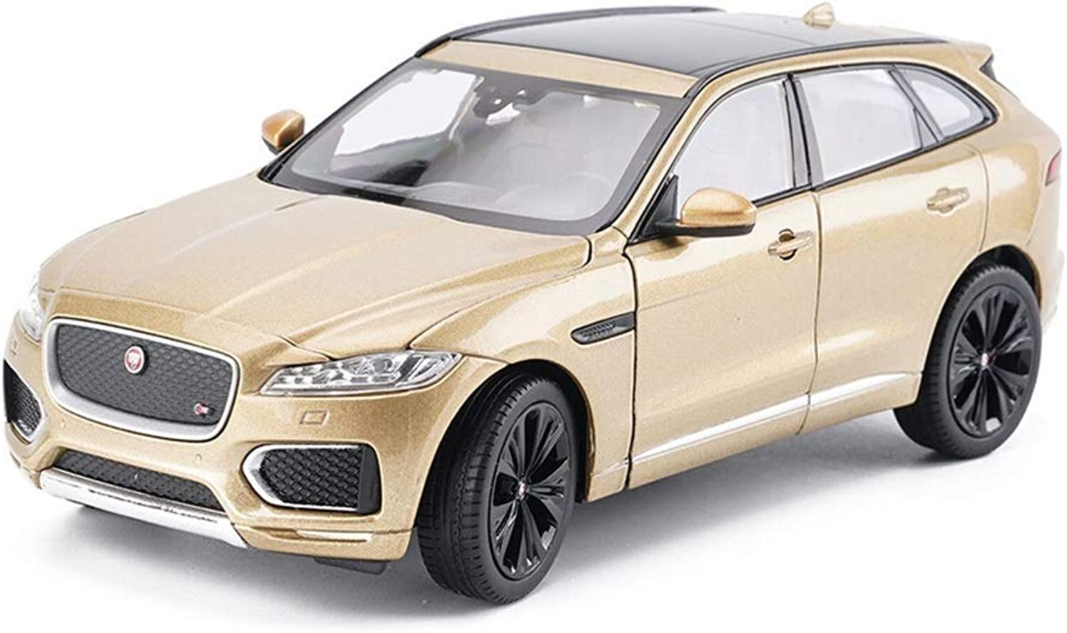 MUYB Car Model Die Casting Car 1 24 Jaguar FPACE Offroad Vehicle Simulation Alloy Diecasting Toy Ornaments Sports Car Collection Jewelry 18x7x6CM (color   gold)