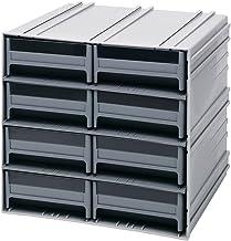 خزانة تخزين كوانتم QIC-83GY رمادية متشابكة مع 8 أدراج رمادية، 29.9 سم × 29.9 سم × 27.9 سم