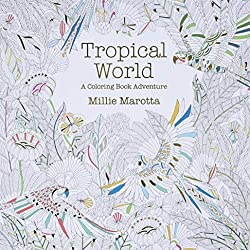Tropical World: A Coloring Book Adventure by Millie Marotta is my favourite colouring book and one of my gift ideas for colouring book fans.