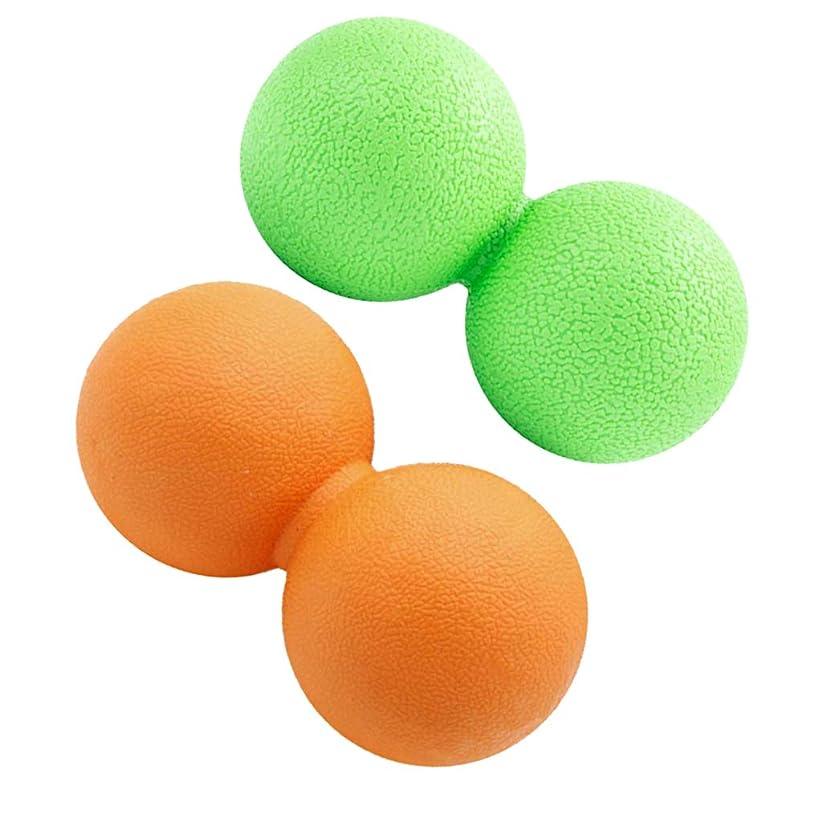どうしたの親愛な見込みKESOTO 2個 マッサージボール ピーナッツ 疲れ解消ボール トリガーポイント 筋膜リリース ツボ押しグッズ