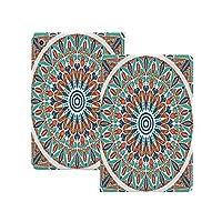 """iPad Pro 11"""" 第2世代 2020 (A2228 A2231) モロッコの装飾、花の幾何学の複雑なデザインメダリオン中世の象徴的な部族のアートワーク、 モロッコの装飾 [Apple Pencil 2 ワイヤレス充電対応] 軽量 き イッピー りスマートケース iPad Pro 11インチ 2020用ハード背面カバー"""