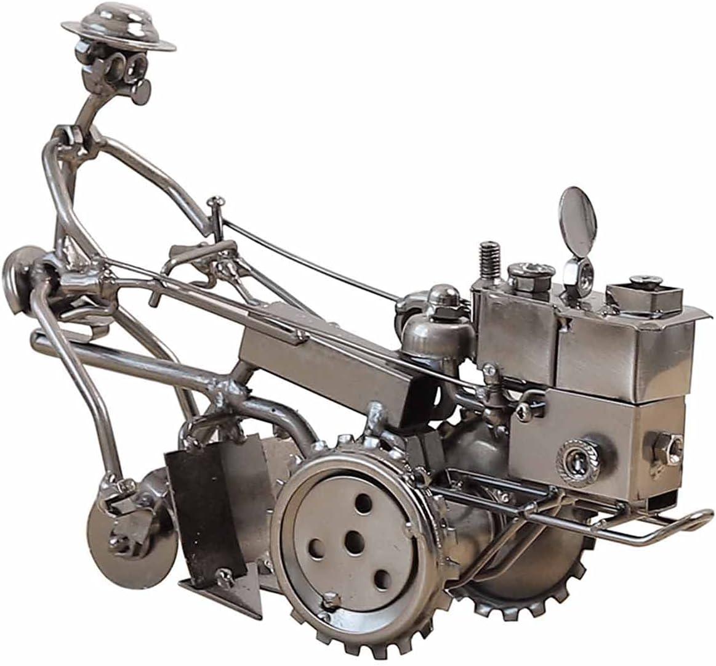 Be super welcome Linckry Elegant Vintage Wrought Iron Tractor Model Metal Crea Decoration