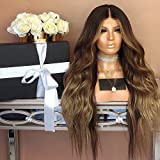 ZiQE 28'peluca rizada larga peluca de pelo sintética marrón para mujeres reemplazo pelucas diarias traje de cosplay fiesta de halloween