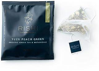 Rishi Tea Yuzu Peach Green Herbal Tea | Immune Support, USDA Certified Organic, Fair Trade Green Tea Blend, Sweet, Antioxi...