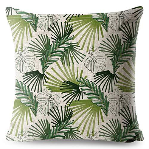 SUIBIAN Blätter Kissenbezug Kissenbezug Kaffeehaus Stuhl Kissenbezug Baumwolle Leinen Überwurf Kissenbezug