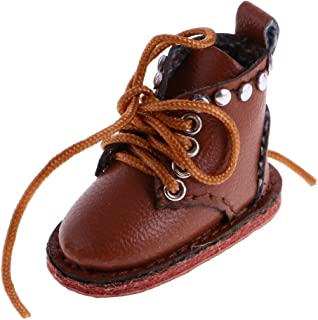 Jili Online Adorable Casual PU Leather Boots Shoes for 12'' Blythe Doll Costume ACCS Brown