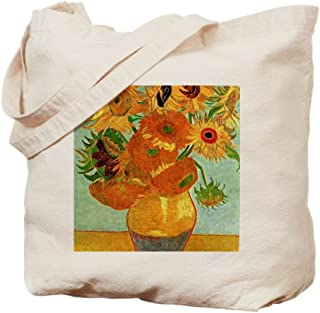 CafePress Van Gogh - Still Life Vase With Twelve Su Natural Canvas Tote Bag, Reusable Shopping Bag