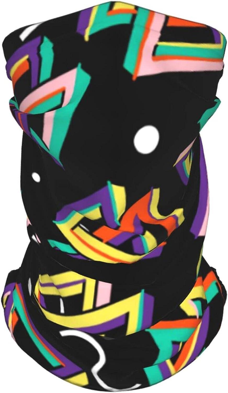 Funny Retro 80s Geometric2 Neck Gaiter Multipurpose Headwear Ice Silk Mask Scarf Summer Cool Breathable Outdoor Sport 2 Pcs